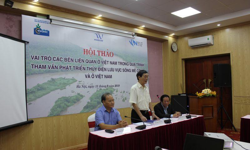 Vai trò các bên trong tham vấn thủy điện lưu vực sông Mê Kông