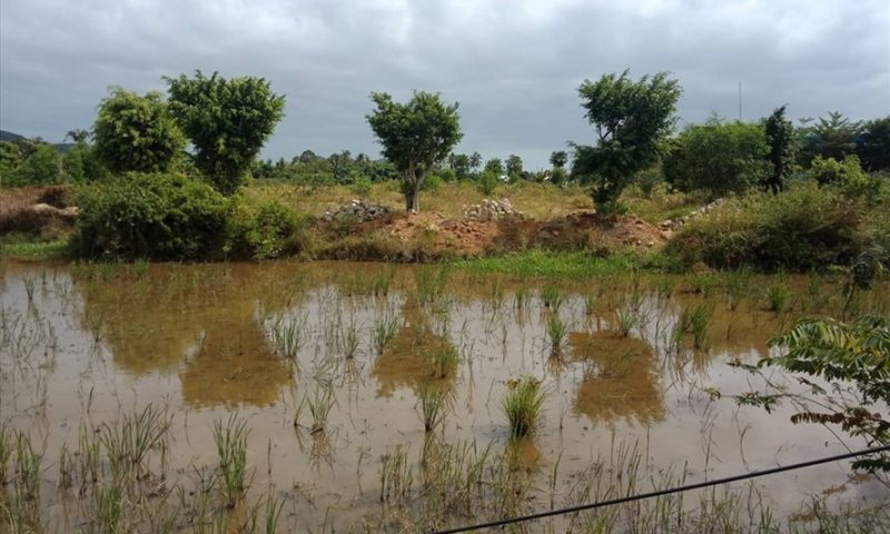 Lấn kè sông tràn lan ở xã Vĩnh Thạnh, Khánh Hòa
