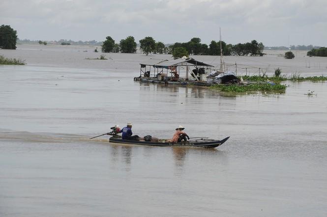 Mực nước ở lưu vực hạ lưu sông Mê Kông thấp kỷ lục