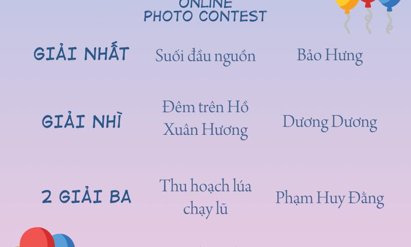 Kết quả giải thưởng cuộc thi ảnh tháng 09/2020